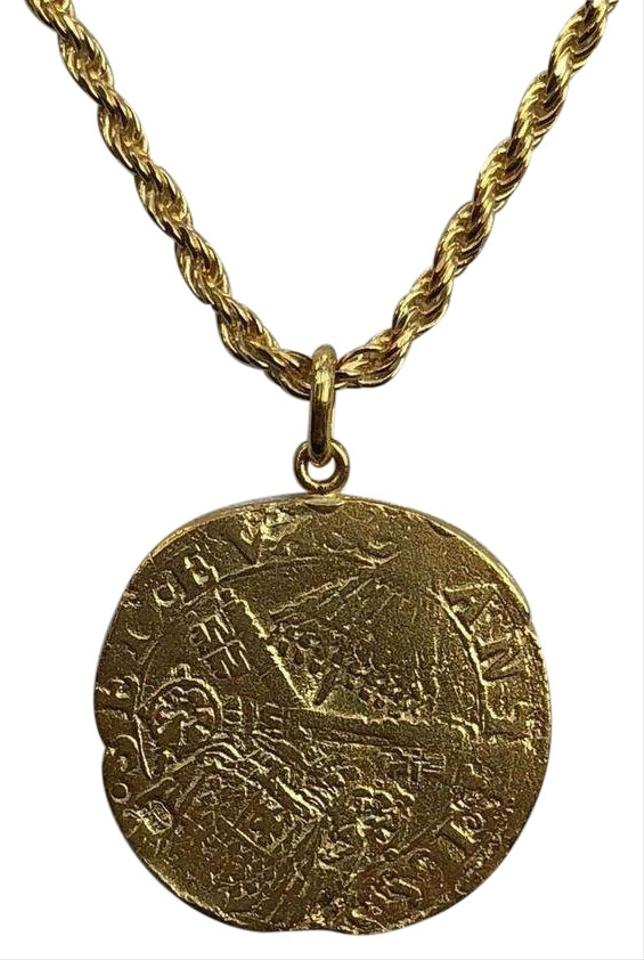 08f57d22e01959 14k Gold Over Real Solid 925 Silver Ancient Roman Coin Pendant Mens ...