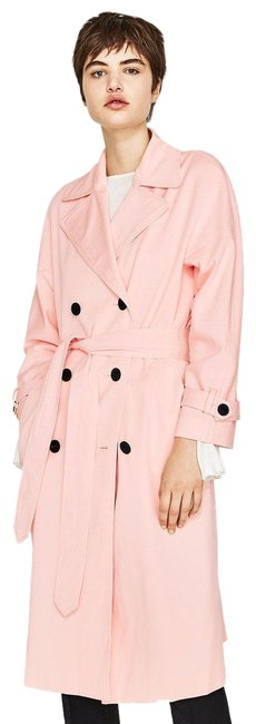 Item - Pink Double Breasted Bell Sleeve Coat Size 6 (S)