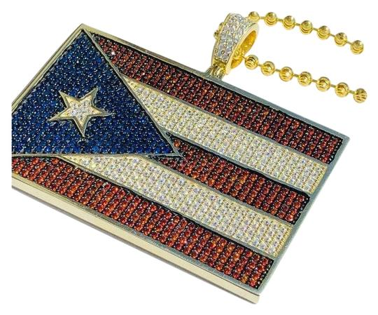 Preload https://img-static.tradesy.com/item/24894011/14k-gold-over-solid-925-silver-5ct-diamond-puerto-rico-flag-pendant-0-1-540-540.jpg