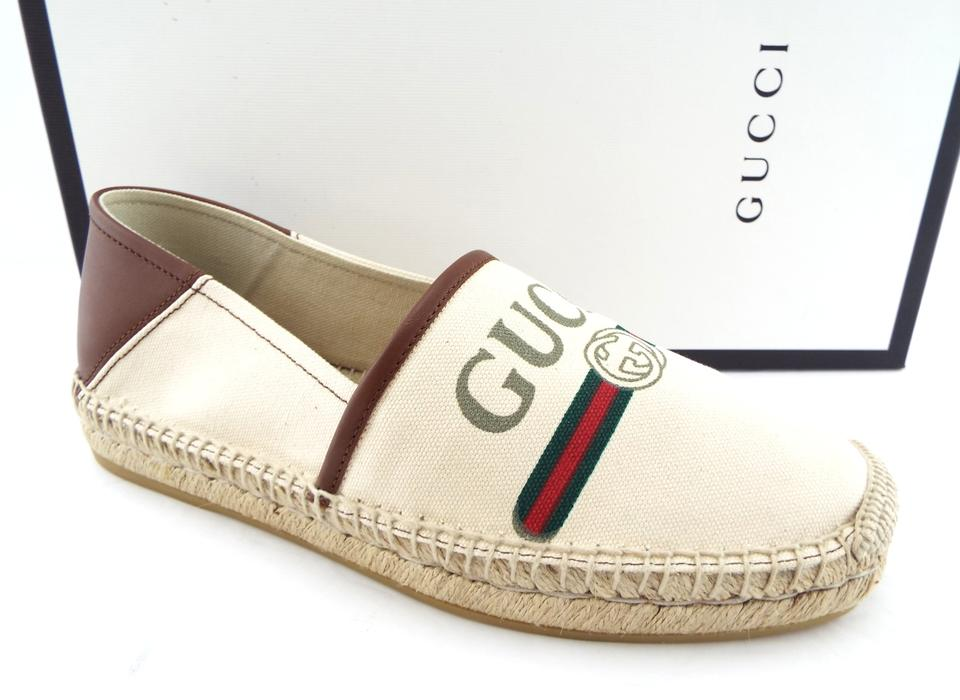 695ff57f6a9 Gucci Collapsible-heel Logo-print Canvas Espadrilles Slip-ons 7us Uk6 Shoes  ...