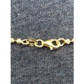 Harlembling 14K Gold Over Solid 925 Silver Ball Moon Diamond Cut Chain Image 3