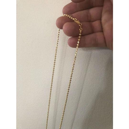 Harlembling 14K Gold Over Solid 925 Silver Ball Moon Diamond Cut Chain Image 4