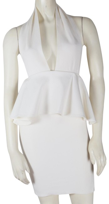 Preload https://img-static.tradesy.com/item/24894087/white-ivory-ruffle-halter-short-casual-dress-size-6-s-0-1-650-650.jpg
