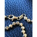 Harlembling 14K Gold Over Solid 925 Silver Ball Moon Diamond Cut Chain Image 5
