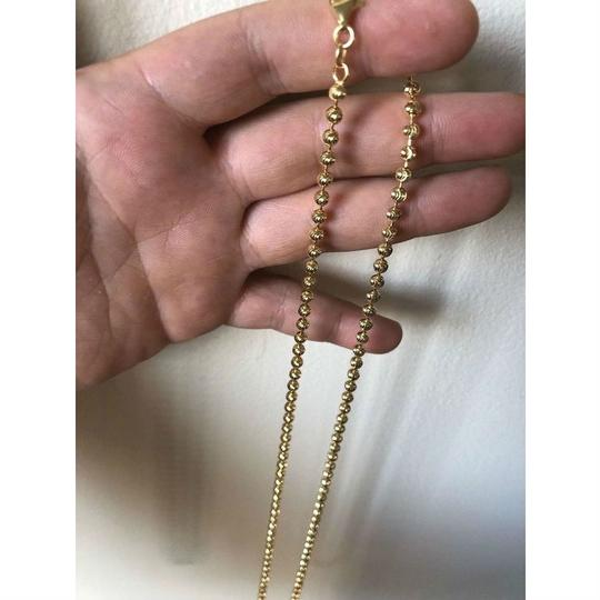 Harlembling 14K Gold Over Solid 925 Silver Ball Moon Diamond Cut Chain Image 7