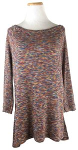 Anthropologie Ribbed Longsleeve Large Top Multicolour