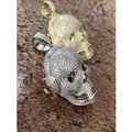 Harlembling 14k Gold Over Solid 925 Silver Skull Headphone Pendant 14k Gold Large Image 4