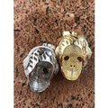Harlembling 14k Gold Over Solid 925 Silver Skull Headphone Pendant 14k Gold Large Image 6