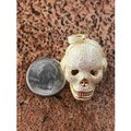 Harlembling 14k Gold Over Solid 925 Silver Skull Headphone Pendant 14k Gold Large Image 7