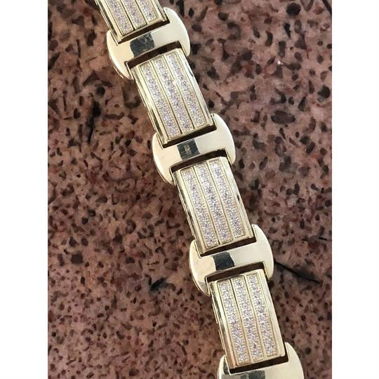 Harlembling 14k Gold Over Solid 925 Silver W. 8ct Diamonds Icy Hip Hop Men's Brace Image 6