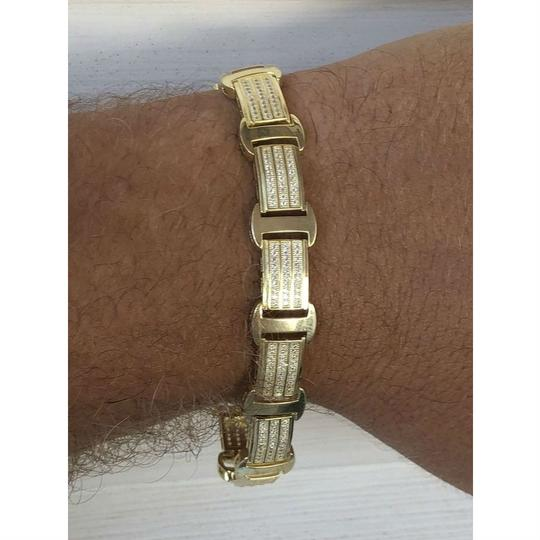 Harlembling 14k Gold Over Solid 925 Silver W. 8ct Diamonds Icy Hip Hop Men's Brace Image 7