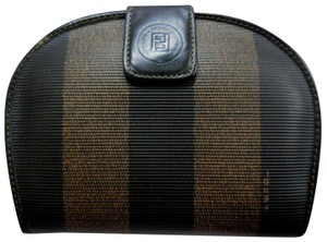Fendi Fendi tobacco striped rounded wallets