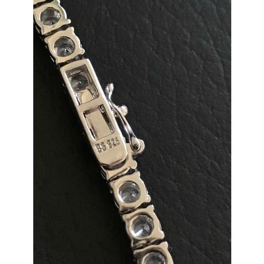 Harlembling 4mm Single Row Tennis Chain W. Ankh Cross 925 Sterling Silver 80ct Lab Image 1