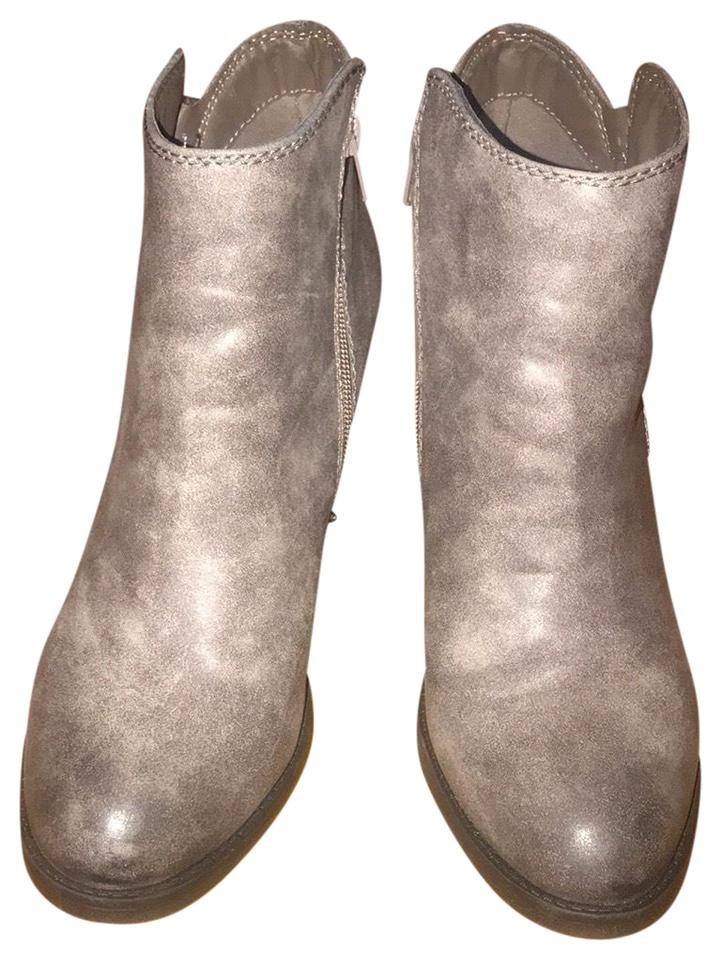 3b573c9ebc3 JustFab Grey Boots Booties Size US 9 Regular (M
