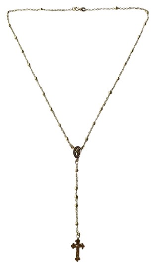 Preload https://img-static.tradesy.com/item/24894302/ladies-rosary-beads-necklace-18-14k-gold-over-solid-925-sterling-0-1-540-540.jpg
