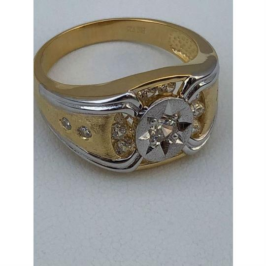 Harlembling Men 14k Gold & Real Solid 925 Silver Iced Out Star Ring Size Man Made Image 5
