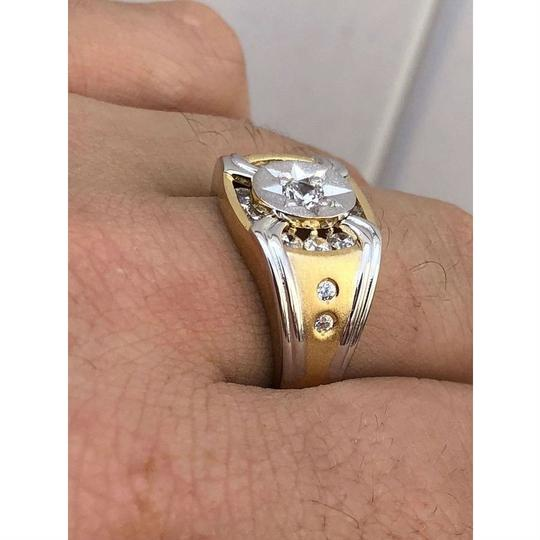 Harlembling Men 14k Gold & Real Solid 925 Silver Iced Out Star Ring Size Man Made Image 6