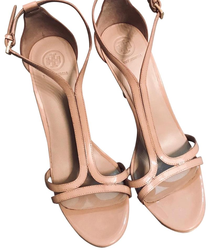 4c730964a60 Tory Burch Nude Shelley Ankle Strap Pumps Size US 10 Regular (M