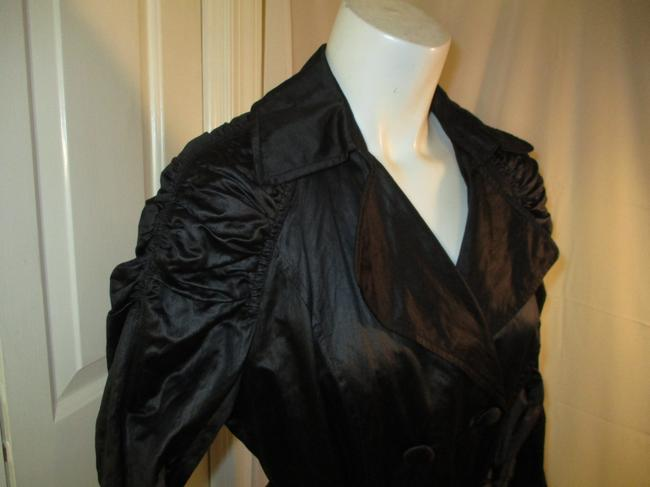 INC International Concepts Belted Double Breasted 001 Trench Coat Image 3