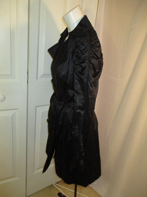 INC International Concepts Belted Double Breasted 001 Trench Coat Image 6