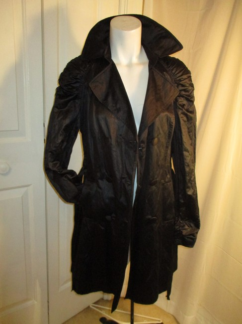 INC International Concepts Belted Double Breasted 001 Trench Coat Image 7