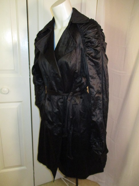 INC International Concepts Belted Double Breasted 001 Trench Coat Image 8
