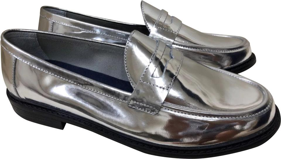 4c29dfca8e2 Cole Haan Silver Pinch Loafer Flats Size US 10 Regular (M