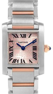 Cartier Cartier Tank Francaise Steel Rose Gold 160th Anniversary Watch W51036Q
