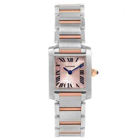 Cartier Cartier Tank Francaise Steel Rose Gold 160th Anniversary Watch W51036Q Image 1
