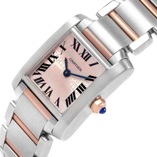 Cartier Cartier Tank Francaise Steel Rose Gold 160th Anniversary Watch W51036Q Image 4
