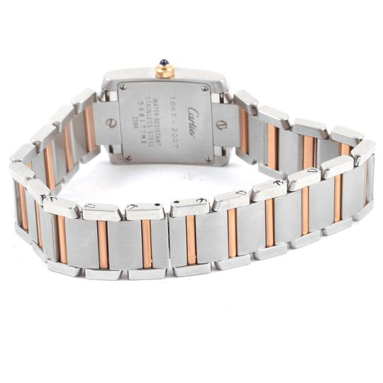 Cartier Cartier Tank Francaise Steel Rose Gold 160th Anniversary Watch W51036Q Image 6