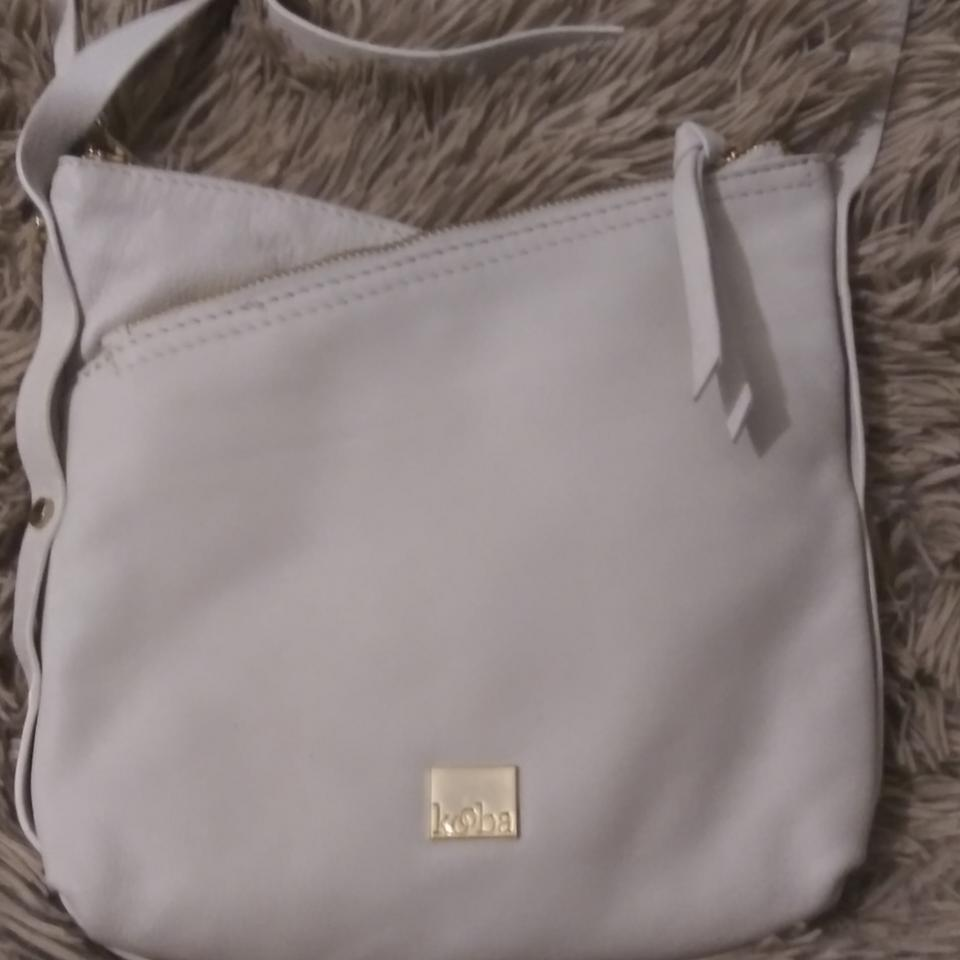 507b957bea3d Kooba Two Sections Entry White Leather Cross Body Bag
