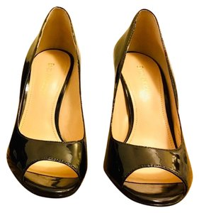 Enzo Angiolini Black Patent Pumps