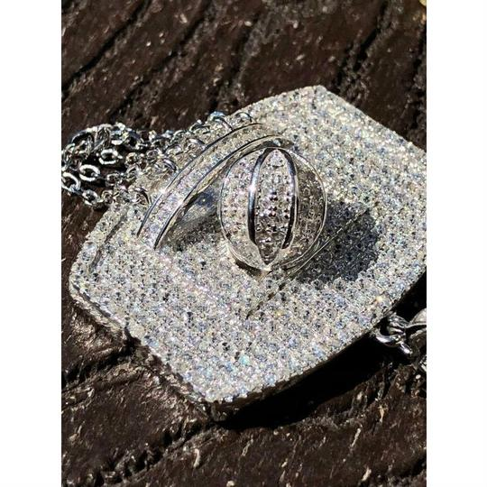 Harlembling Men Solid 925 Silver Basketball W. Hoop Diamond Pendant W. Chain 14k Image 6