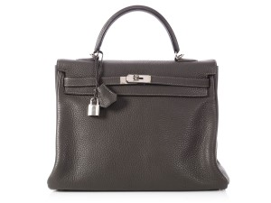 Hermès Hr.p1119.15 Palladium Graphite Togo Reduced Price Shoulder Bag