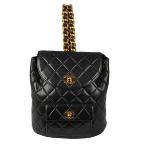 Chanel Leather Vintage Classic Backpack