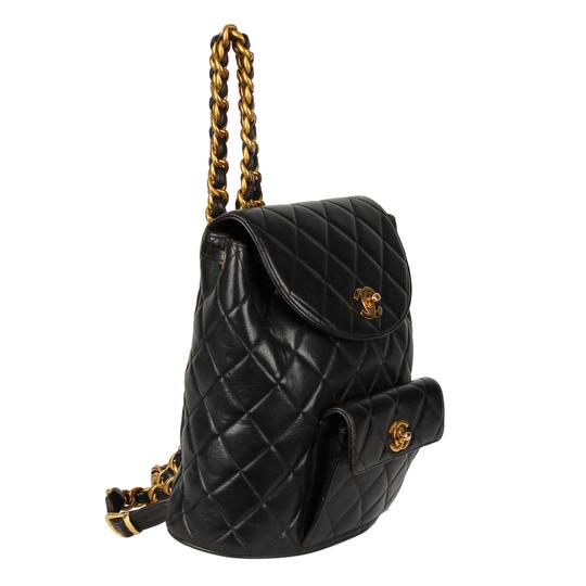 Chanel Leather Vintage Classic Backpack Image 2