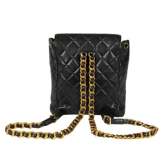 Chanel Leather Vintage Classic Backpack Image 4