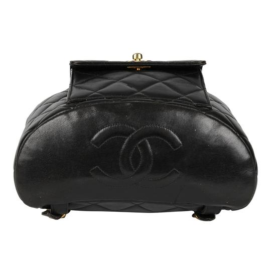 Chanel Leather Vintage Classic Backpack Image 5