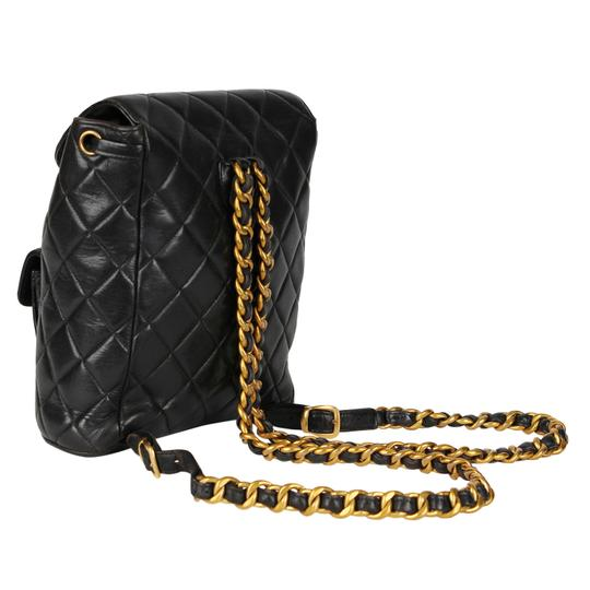 Chanel Leather Vintage Classic Backpack Image 6