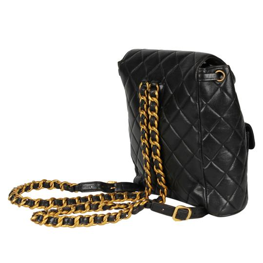 Chanel Leather Vintage Classic Backpack Image 7
