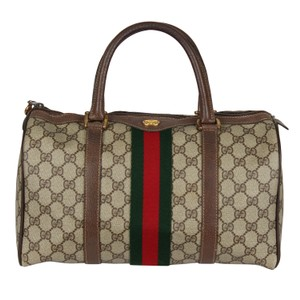 9dfa5d9adc66 Gucci Vintage Classic Sherry Satchel in Brown
