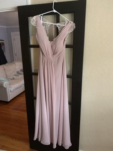 Hayley Paige Collections Dusty Rose Chiffon 5600 Formal Bridesmaid/Mob Dress Size 8 (M)