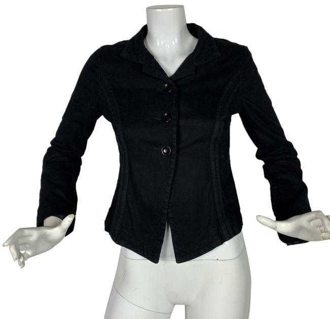 Preload https://img-static.tradesy.com/item/24894718/black-jacket-cotton-women-italy-blazer-size-4-s-0-1-650-650.jpg