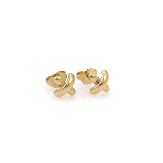 Preload https://img-static.tradesy.com/item/24894739/tiffany-and-co-21734-cross-stitch-stud-18k-gold-earrings-0-0-540-540.jpg
