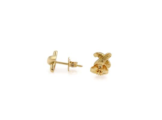 Tiffany & Co. Cross Stitch Stud 18k Yellow Gold Earrings Image 1