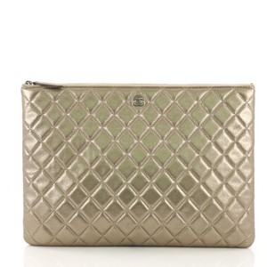 75787f7899f8 Added to Shopping Bag. Chanel Leather metallic gold Clutch. Chanel Clutch O  Case ...