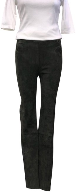 Item - Military Green Lambs Suede High Rise Ankle Zip Pants Size 8 (M, 29, 30)