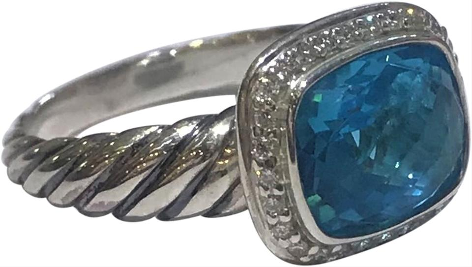a1806d07feb7f David Yurman Blue Noblesse with Hampton Topaz and Diamonds Ring 33% off  retail