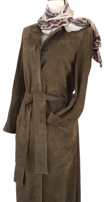 Item - Taupe Alioth Suede Military Coat Size 4 (S)